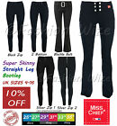 Girls Black Grey Navy School Trouser Size 4-16 Stretch Hipster Skinny Miss Chief