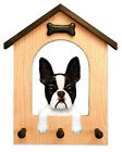 Boston Terrier Dog House Leash Holder. In Home Wall Decor Products & Dog Gifts.