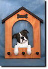 Staffordshire Bull Terrier Dog House Leash Holder. In Home Wall Decor Products.