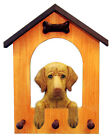 Vizsla Dog House Leash Holder. In Home Wall Decor Wood Products & Dog Pet Gifts.