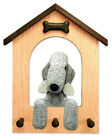Bedlington Terrier Dog House Leash Holder.In Home Wall Decor Wood Products-Gifts