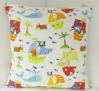 PLAY ROOM CUSHION COVERS PIRATE SHIP PUSSY CAT RABBIT FISH DOLPHIN CHILDRENS