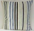NEW NAUTICAL THEMED SEA SIDE STRIPED STONE SAND BLACK GREY WHITE CUSHION COVERS