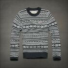 HCO Hollister by Abercrombie & Fitch Mens knit CREW WOOL SWEATER