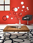 30 Bubble Circles Kids wall art vinyl decal Removable boy girl bedroom  2 Colors