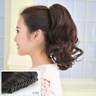 Short Wavy Curly Hair Ponytails Claw Clip in Hair Extension