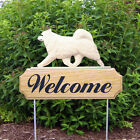 Samoyed Welcome Sign Stake. Home,Yard & Garden Decor. Dog Wood Products & Gifts.