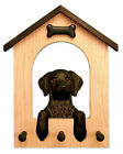 Adult Curly Coated Retriever Dog House Leash Holder. In Home Wall Decor Products