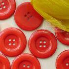 Red 4 Holes Plastic Buttons Sewing Cardmaking Scrapbooking 17mm,27mm,33mm