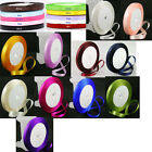 25 Yard Roll of Satin Ribbon - 10mm wide.  Choose Colour  -  UK Seller