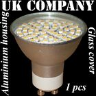 GU10 - 60 SMD LED + glass cover WARM /DAY WHITE REPLACES 60W HALOGEN BULBS