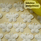 White Butterfly Appliques Padded Sewing Scrapbooking Trim Craft New