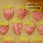 Pink Strawberry Appliques Padded Craft Sewing Scrapbooking Trimming APQE