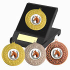 Equestrian Horse Medal in a Presentation Box, F/Engraving, Horse Trophy Award