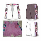 CIRCLES URBAN BEACH GIRLS SHORTS - PINK BLUE WHITE 1 2 3 4 5 6 7 8 - holiday