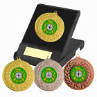 Target Shooting Medal in Presentation Box - F/Engraving  Rifle Shooting Trophies