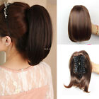 Woman's Girl 32cm Straight Ponytail Pony Claw Clip in Wigs Hair Extension KP46