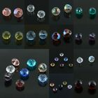 Bulk Lots Multicolor Faceted Crystal Glass Rondelle Spacer Loose Beads Findings