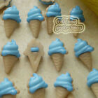 Blue Ice Cream 13mm Plastic Buttons Sewing Scrapbooking Collectable Craft