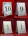 Personalised Table Numbers/Names Wedding, Party