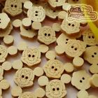 Mickey 19mm Wood Buttons Sewing Scrapbooking Craft NCB011