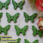 Green New Butterfly 22mm Wood Buttons Sewing Scrapbooking Craft NCB035-4
