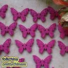 Hot Pink New Butterfly 22mm Wood Buttons Sewing Scrapbooking Craft NCB035-7