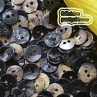 Black Round 11mm Mother Of Shell Buttons Sewing Scrapbooking Beads Craft