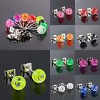 Wholesale Zebra Znimal Print Ball Bead Stainless Steel Stud Ear Earrings Jewelry