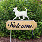 Chihuahua Welcome Sign Stake. Home,Yard & Garden Dog Decor Wood Products-Gifts