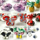 10 Porcelain animal bead pendants Tiger fish beetle Butterfly wholesal FREE SHIP