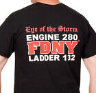 FDNY Eye Of The Storm Tee Eng280/Ladder132 (Officially Licensed) - NYC Firestore