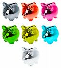 "Wanted Brand Novelty 2"" Disco Pig Ceramic Metallic Piggy Money Bank - Pick Color"