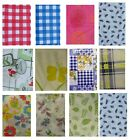 VINYL TABLE CLOTH FLANNEL BACKED DINING TABLEWARE TABLE PROTECTOR OBLONG ROUND