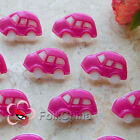 Magenta Classic Car 25mm Plastic Buttons Sewing Scrapbooking Collectable CCB10