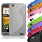 S-CURVE GEL SLIM RUBBER CASE COVER SKIN FOR HTC ONE V MOBILE PHONE - ALL COLOURS