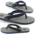 New Paperplanes Mens Premium Non Slip Flip Flops Sandals Black Blue