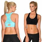 Ladies Gym wear by Blockout womens clothes. Sports Bra running crop top SZ S M L