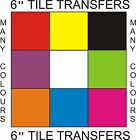 """6"""" Tile Stickers/Transfers 6""""  150mmx150mm Packs of 10,20,30,40,50 many colours"""