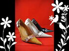 Women Ladies High Heel Pointy Toe Black Tan Color Shoes  Size 5 6 7 8 9 10