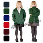 Boys Girls Unisex Fleece Reversible Jacket Winter Warm Coat Zipped School