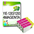 4 Magenta NON-OEM T1283 OR T1293 COMPATIBLE INKS Replace For  STYLUS PRINTER
