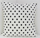 SCATTER CUSHION COVERS BLACK AND WHITE CHIC POLKA DOT WITH A BLACK BACKING