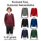 Boys School Jumper Knitted Sweatshirt V Neck School  Ages 3 4 5 6 7 8 9 10 11