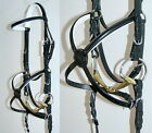 FSS German COMFORT WHITE Padded STITCH Mexican Grackle Figure 8 Noseband Bridle