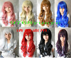 Cosplay long curly 8 Colors Women's COS Full Health Wig