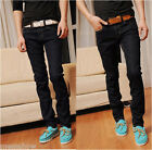 Men's Stylish Casual Pencil Denim Skinny Pants Stretchy Slim Fit Jeans Trousers