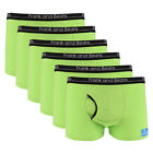 6 Pairs of Frank and Beans Mens Underwear Boxer Briefs Trunks Cotton M Grey