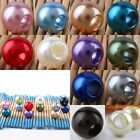 Acrylic Faux Shiny Pearl Rondelle Large Hole Loose Beads Jewelry Crafts Findings