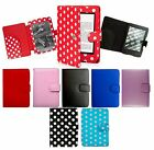 for AMAZON KINDLE 4 (2011-SEP 2014) LEATHER CASE COVER WALLET + SUPER LED LIGHT